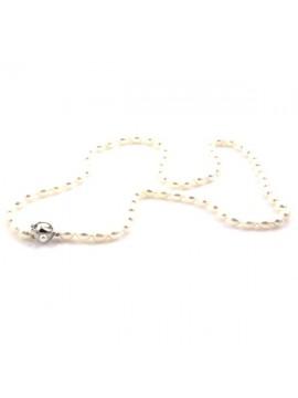 Collana di perle donna susta in argento 925