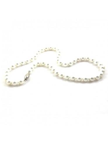 Collana di perle donna susta in argento 926