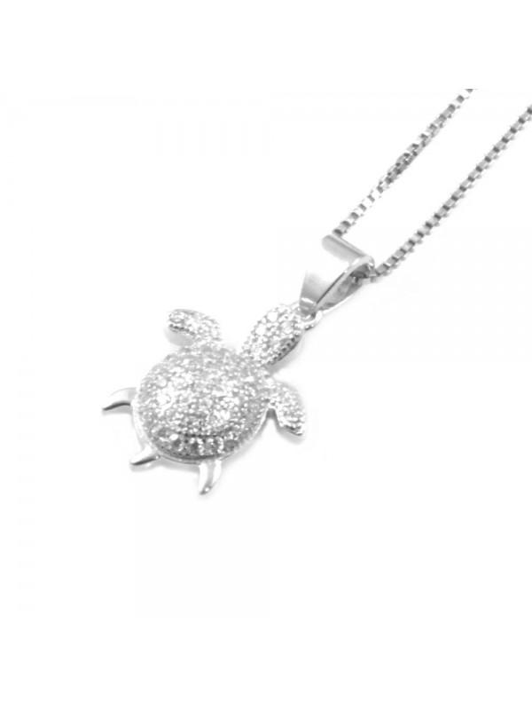 Collana con tartaruga da donna in argento 925 cln0319