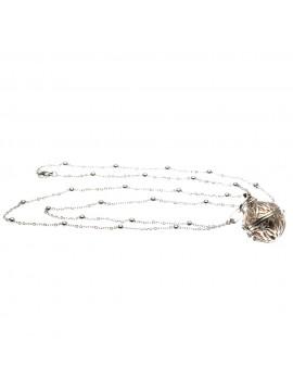 chiama angeli collana ciondolo bola messicana in bronzo xlofono catena fino a 90 cm diametro mm 25 - cll1430b