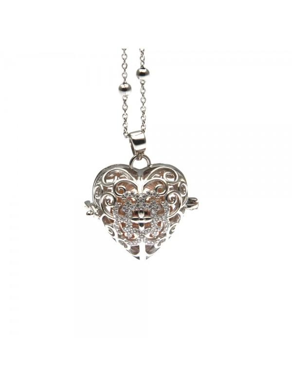 chiama angeli collana ciondolo bola messicana in bronzo xlofono catena fino a 90 cm diametro mm 25 - cll1431