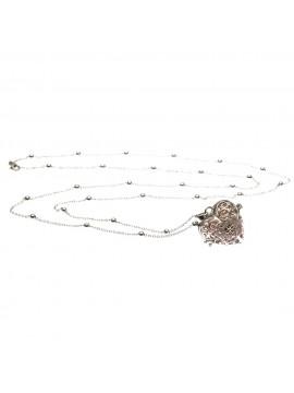 chiama angeli collana ciondolo bola messicana in bronzo xlofono catena fino a 90 cm diametro mm 25 - cll1431b