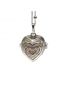 chiama angeli collana donna in bronzo a cuore campanellino per gravidanza - cll1754