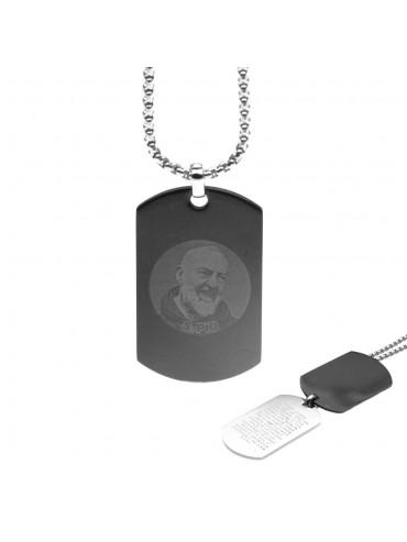 Collana di padre pio medaglia ciondolo santo di pietralcina - cll0932