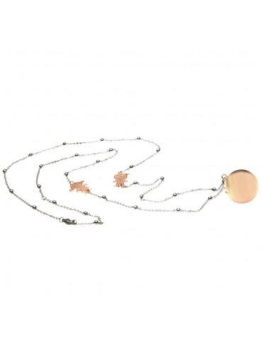 chiama angeli collana ciondolo bola messicana in bronzo xlofono catena fino a 90 cm diametro mm 25 - cll1507