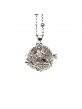 chiama angeli collana donna in bronzo e strass campanellino per gravidanza - cll1753