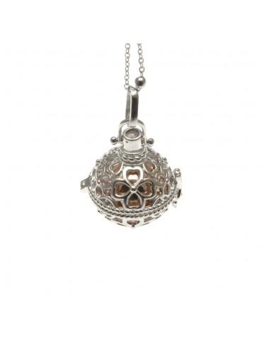 chiama angeli collana donna in bronzo campanellino per gravidanza - cll1756