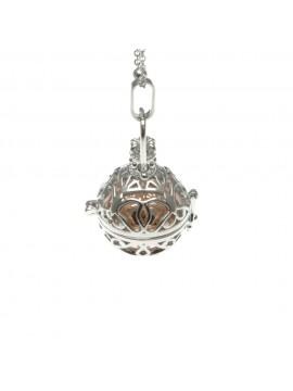 chiama angeli collana ciondolo bola messicana in bronzo xlofono catena fino a 90 cm diametro mm 25 - cll1435