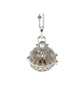 Chiama angeli collana ciondolo in bronzo motivo fiori - cll1261