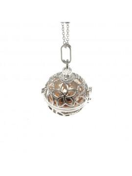 chiama angeli collana ciondolo bola messicana in bronzo xlofono catena fino a 90 cm diametro mm 25 - cll1432