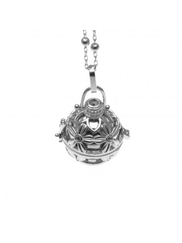 chiama angeli collana ciondolo bola messicana campanellino in bronzo - cll1475