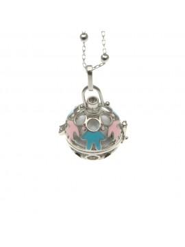 chiama angeli collana ciondolo bola messicana campanellino in bronzo - cll1477