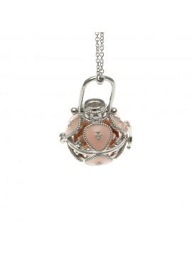chiama angeli collana ciondolo bola messicana campanellino in bronzo - cll1482