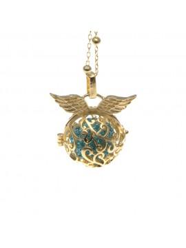 chiama angeli collana ciondolo bola messicana in bronzo xlofono catena fino a 90 cm diametro mm 25 - cll1434