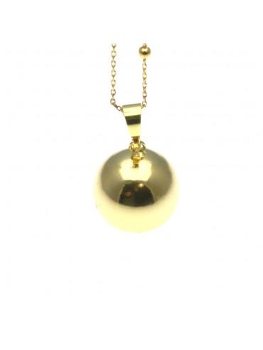Chiama angeli collana ciondolo in bronzo dorato - cll1399