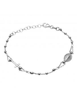 Bracciale rosario uomo donna in argento 925 - bcc1042