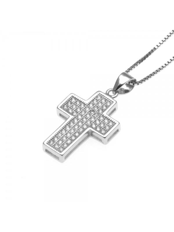 Collana croce ciondolo donna in argento 925 - cln0333