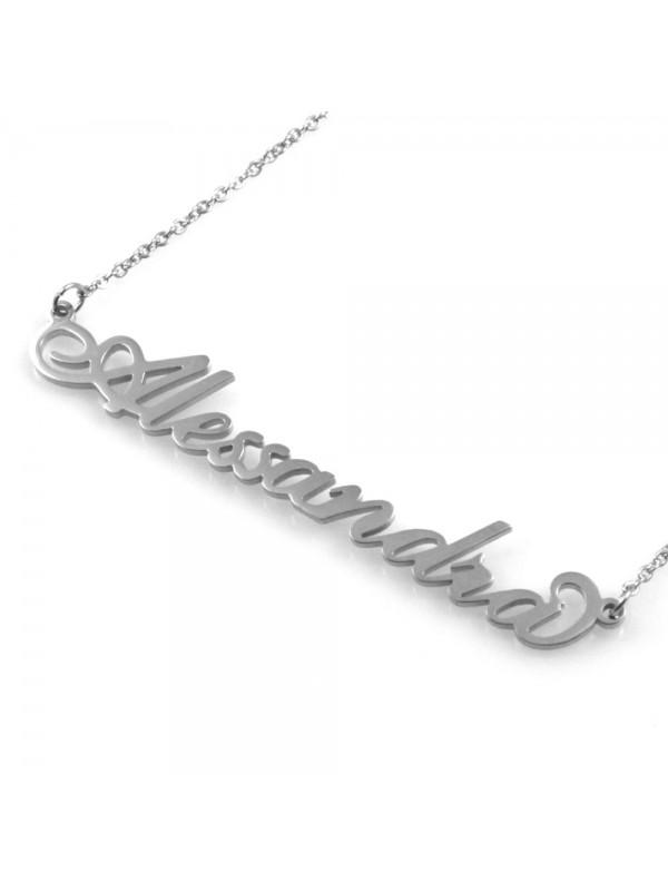 collana con nome Alessandra in acciaio da donna - cll1766