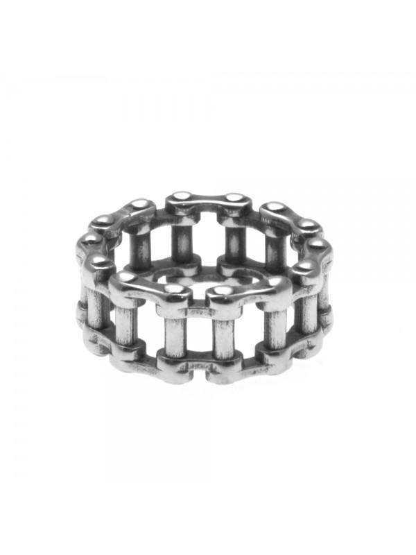 anello uomo catena moto in acciaio misura 20