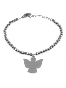 bracciale angelo custode donna in acciaio bcc1598