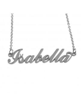 Collana con nome isabella in acciaio cll0533