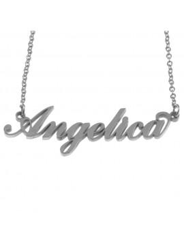 Collana con nome angelica in acciaio cll0551