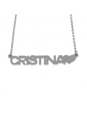 Collana con nome cristina - cll0856
