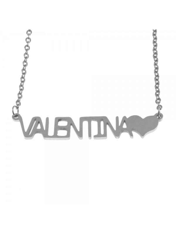 Collana con nome valentina - cll0885