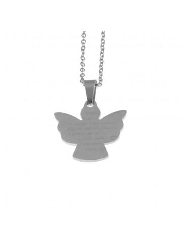 collana angelo custode donna in acciaio cll1588