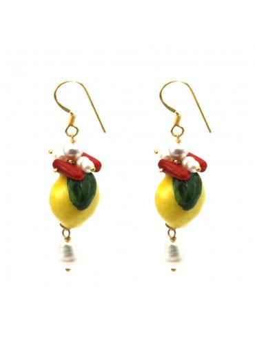 Orecchini siciliani limoni donna occ0046