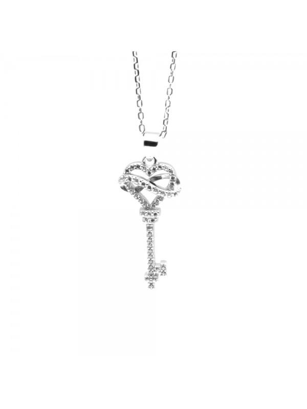 Collana con chiave e infinito donna argento cll0798