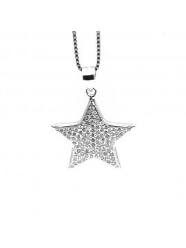 Collana con stellina donna in argento 925 cln0388