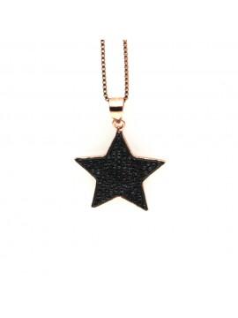 Collana con stella donna in argento 925 cln0389