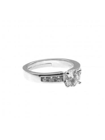 Anello donna solitario in argento 925 all0007