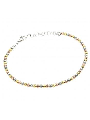Bracciale donna argento tre colori bcc0584