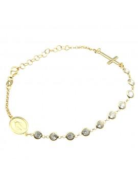 Bracciale rosario argento dorato bcc1045