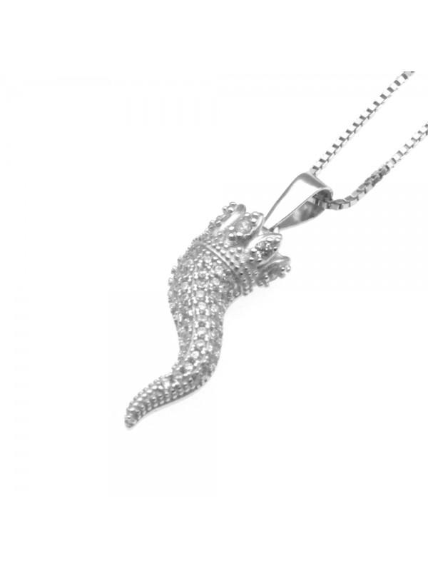 Collana con corno napoletano donna argento 925 cll0623