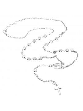 Collana rosario argento postine di strass cll0825