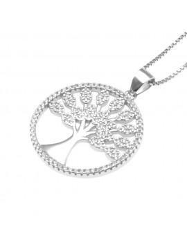 collana con albero della vita donna argento 925 cll1002