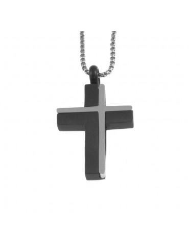 Collana croce uomo in acciaio cln0050