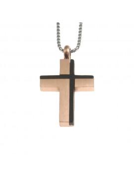 Collana croce uomo in acciaio cln0051