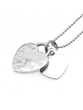 Collana con cuore donna in acciaio cln0080