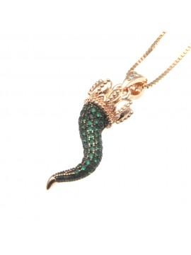 Collana con corno napoletano in argento 925 cln0382