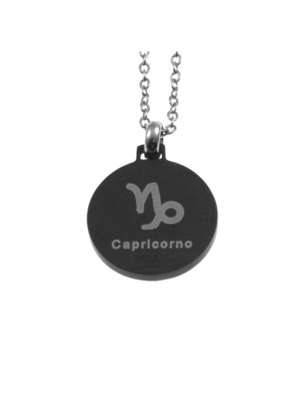 Collana capricorno segno zodiacale acciaio cln0071