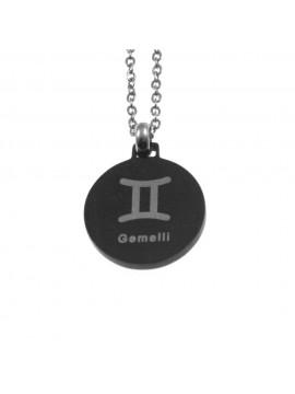 Collana gemelli segno zodiacale acciaio cln0073