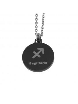 Collana sagittario segno zodiacale acciaio cln0077