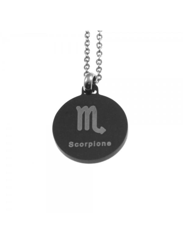 Collana scorpione segno zodiacale acciaio cln0078