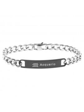 Bracciale acquario segno zodiacale acciaio bcc0254