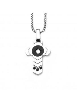 collana croce uomo acciaio cll0609