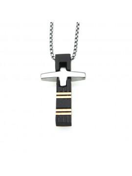 collana croce uomo acciaio cll0615